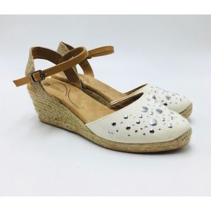 White mountain espadrille wedges nwot